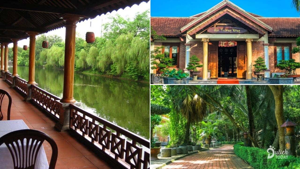 Không gian mát mẻ thiết kế theo kiểu làng quê Việt Nam tại Hoàng Long Resort