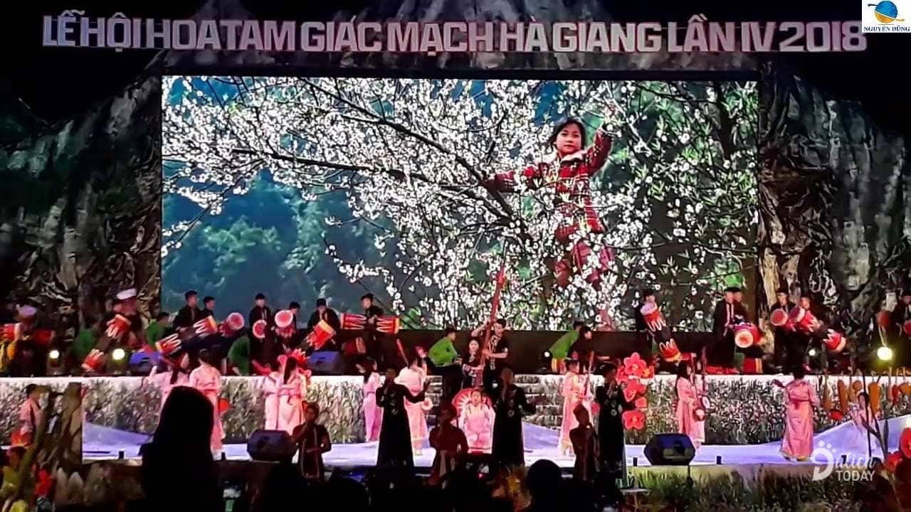 Chương trình khai mạc lễ hội hoa Tam giác mạch 2018