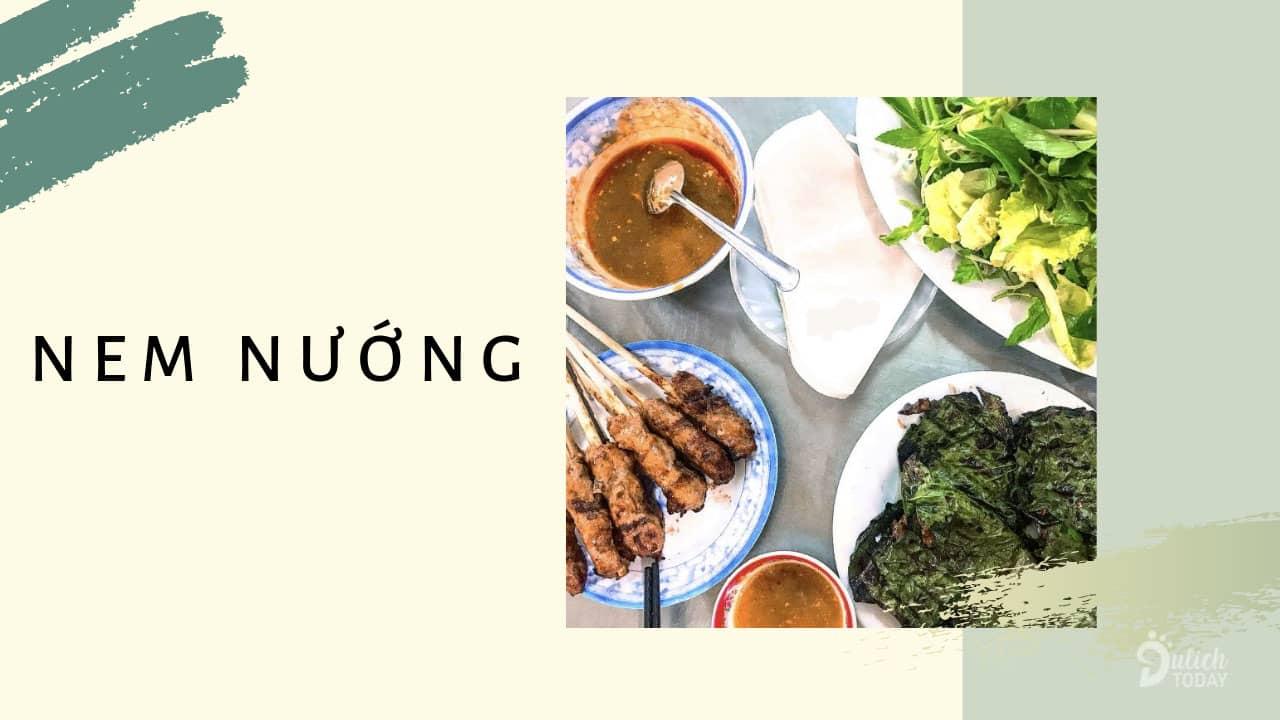 Món ăn vặt Đà Nẵng nức tiếng dành cho dân sành ăn - nem nướng