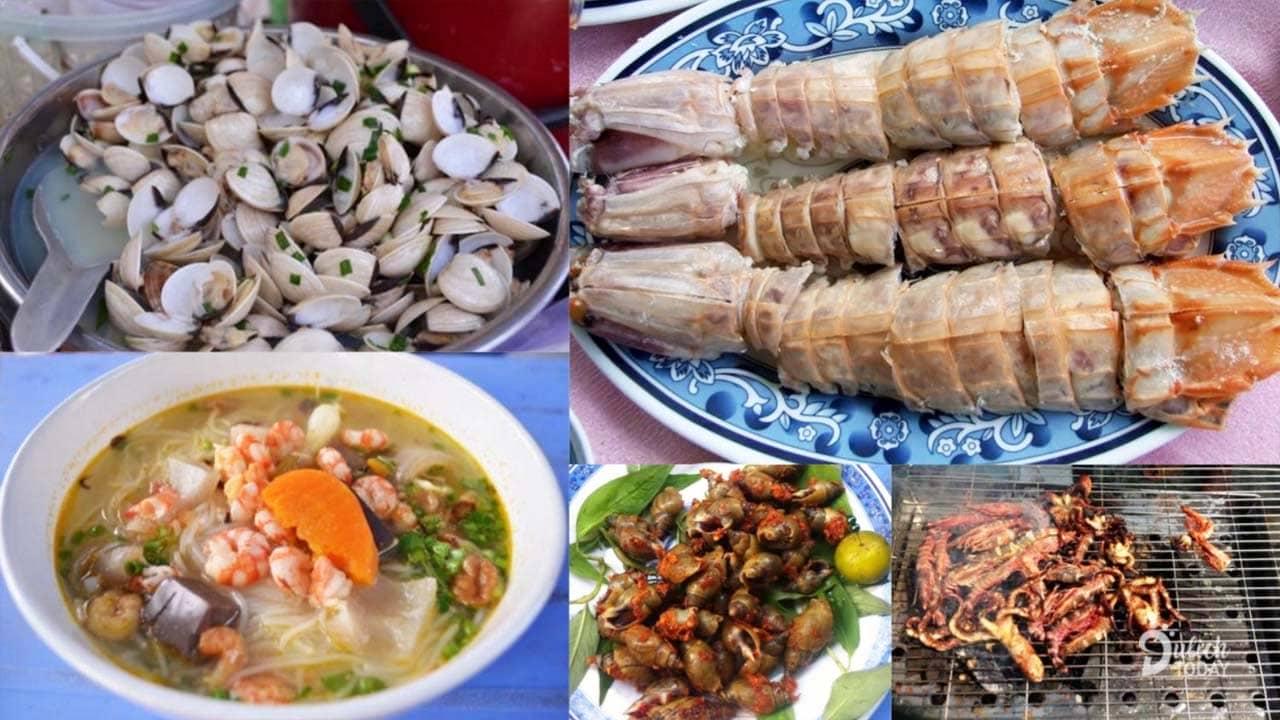 Những món hải sản ở chợ Hàng Dương