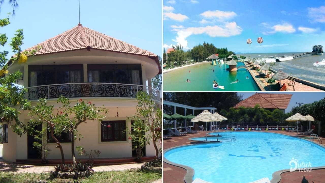 Hòn Ngọc Phương Nam là resort Cần Giờ đẹp với không gian mở thoáng mát bên bãi biển
