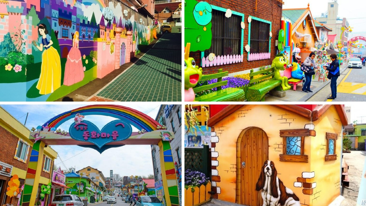 Sống ảo thỏa thích tại làng tranh cổ tíchSongwol-dong