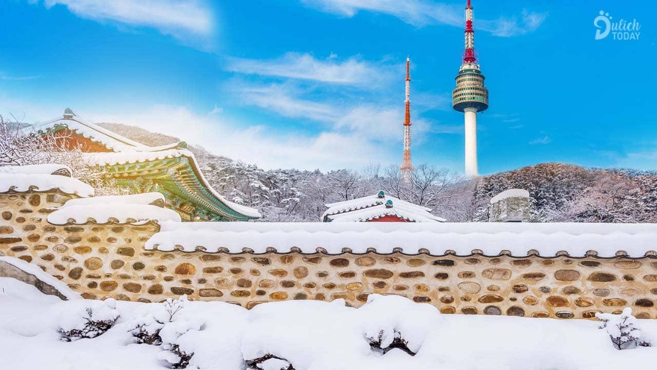 Du lịch Hàn Quốc mùa nào đẹp - mùa đông với tuyết trắng xóa