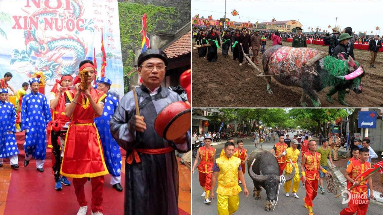 Phần lễ rước linh thiêng đậm sắc văn hóa trước phần hội chọi trâu Đồ Sơn