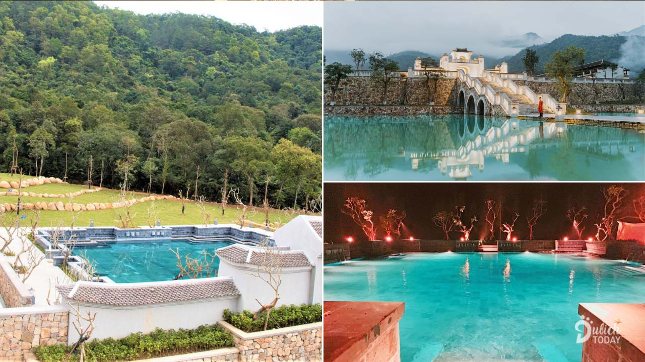 Hồ bơi ở Legacy Yên Tư Resort