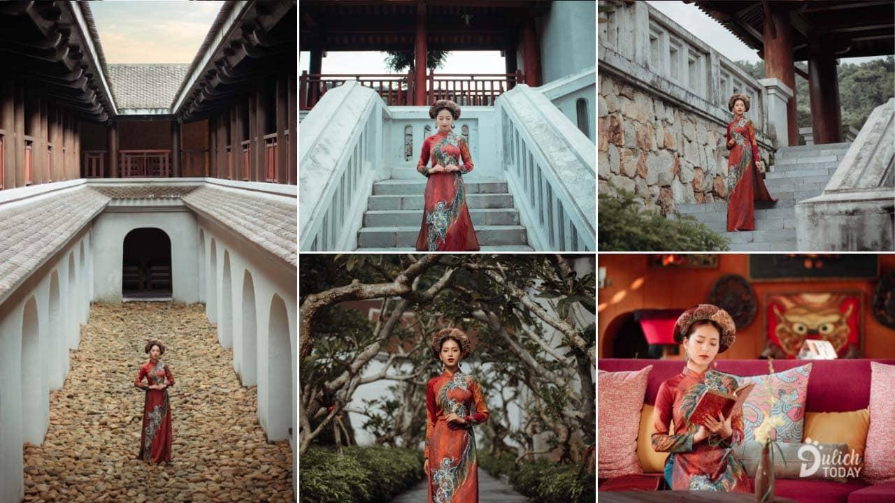 Màu sắc thâm trầm, hoài cổ rất thích hợp khi chụp ảnh ở Legacy Yên Tử