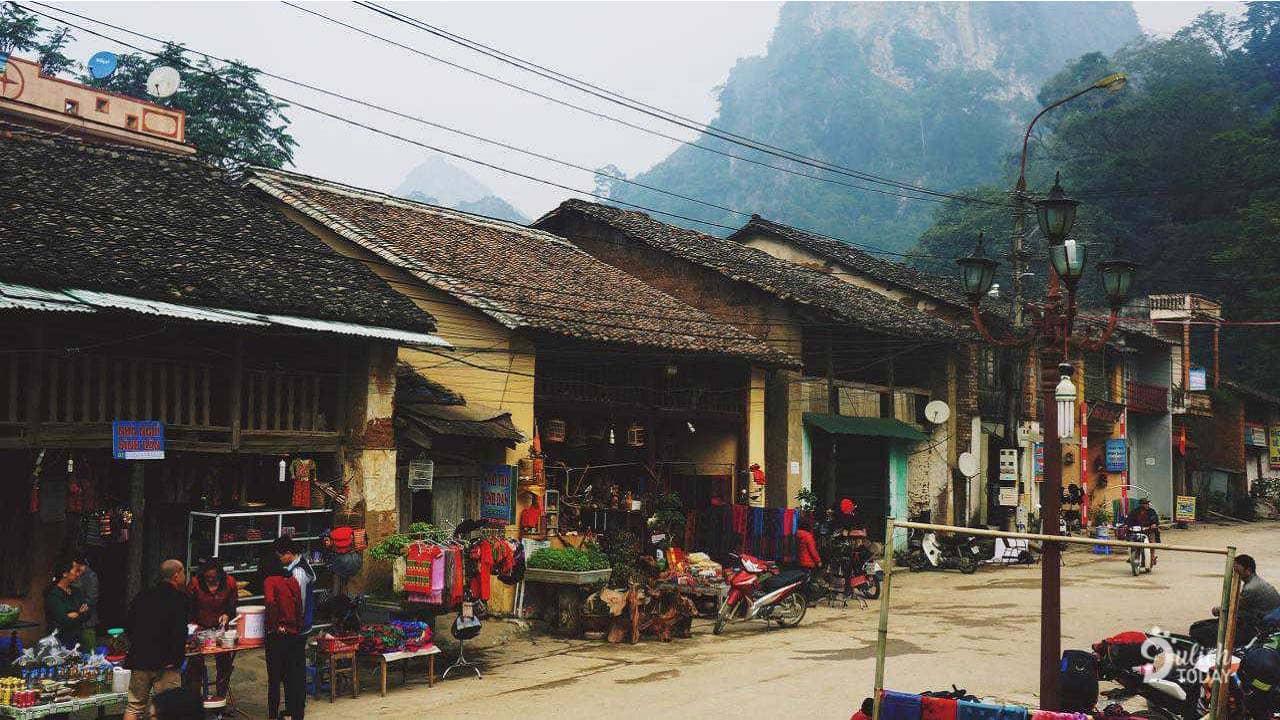 Khu vực chợ cổ Đồng Văn, nơi buôn bán của đồng bào dân tộc miền núi