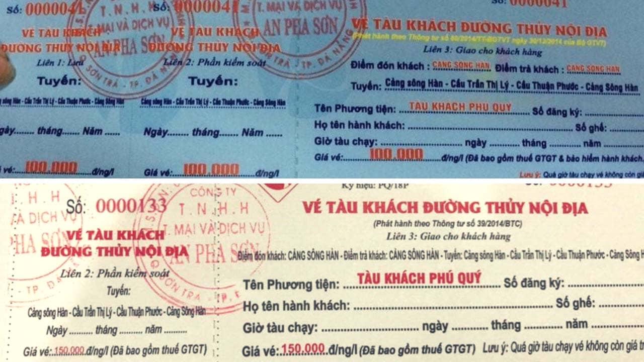 Giá vé du thuyền trên sông Hàn Đà Nẵng dao động từ 100.000 - 150.000 vnđ/vé