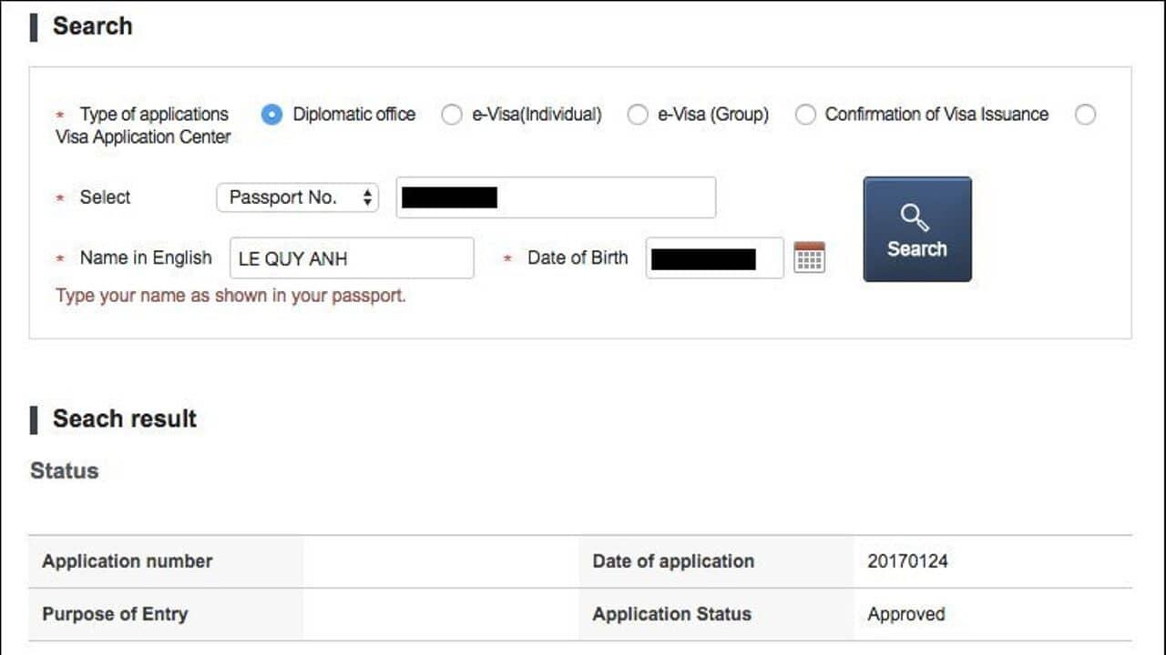 Kiểm tra kết quả visa Hàn Quốc như thế nào?