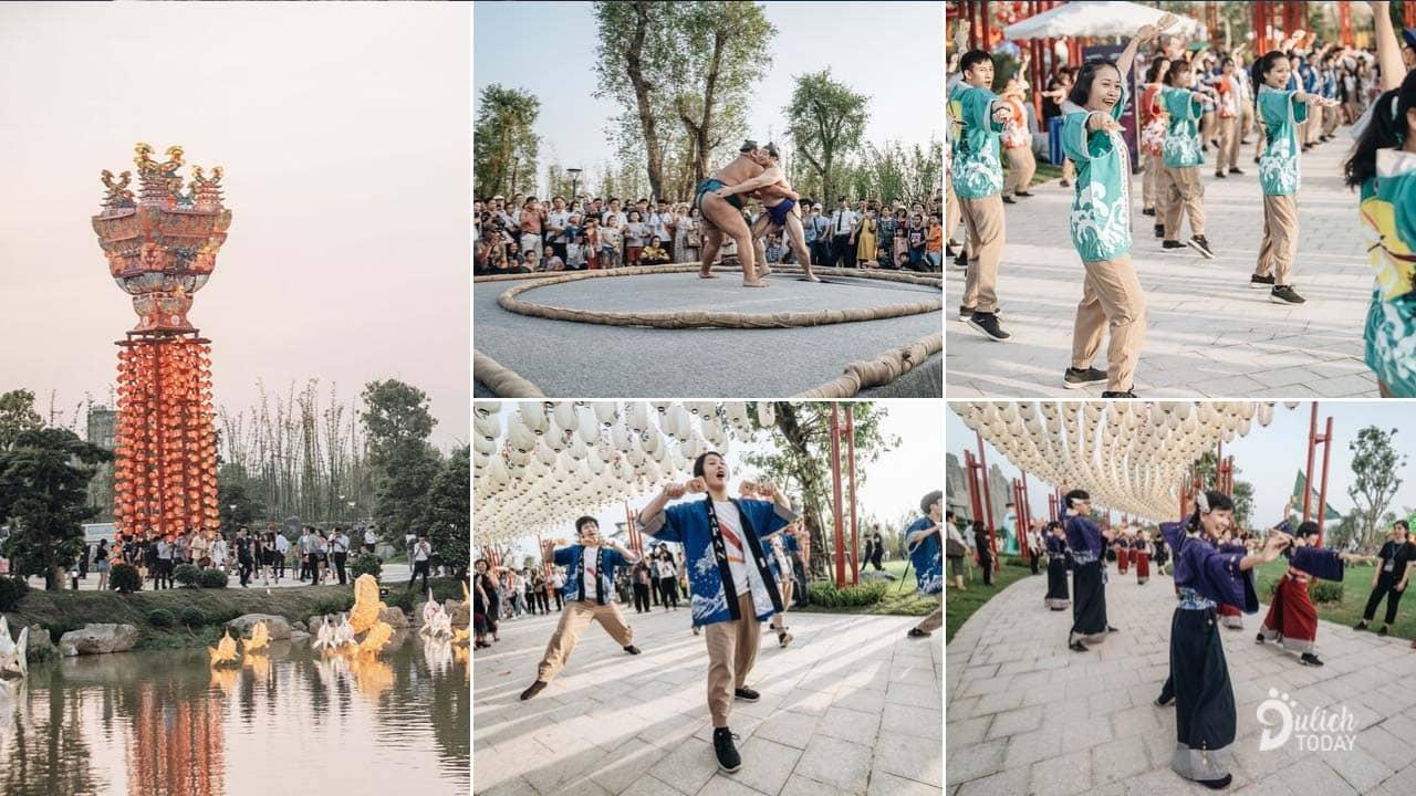 Lễ hội khai trương vườn Nhật mang đến rất nhiều hoạt động trải nghiệm dành cho du khách