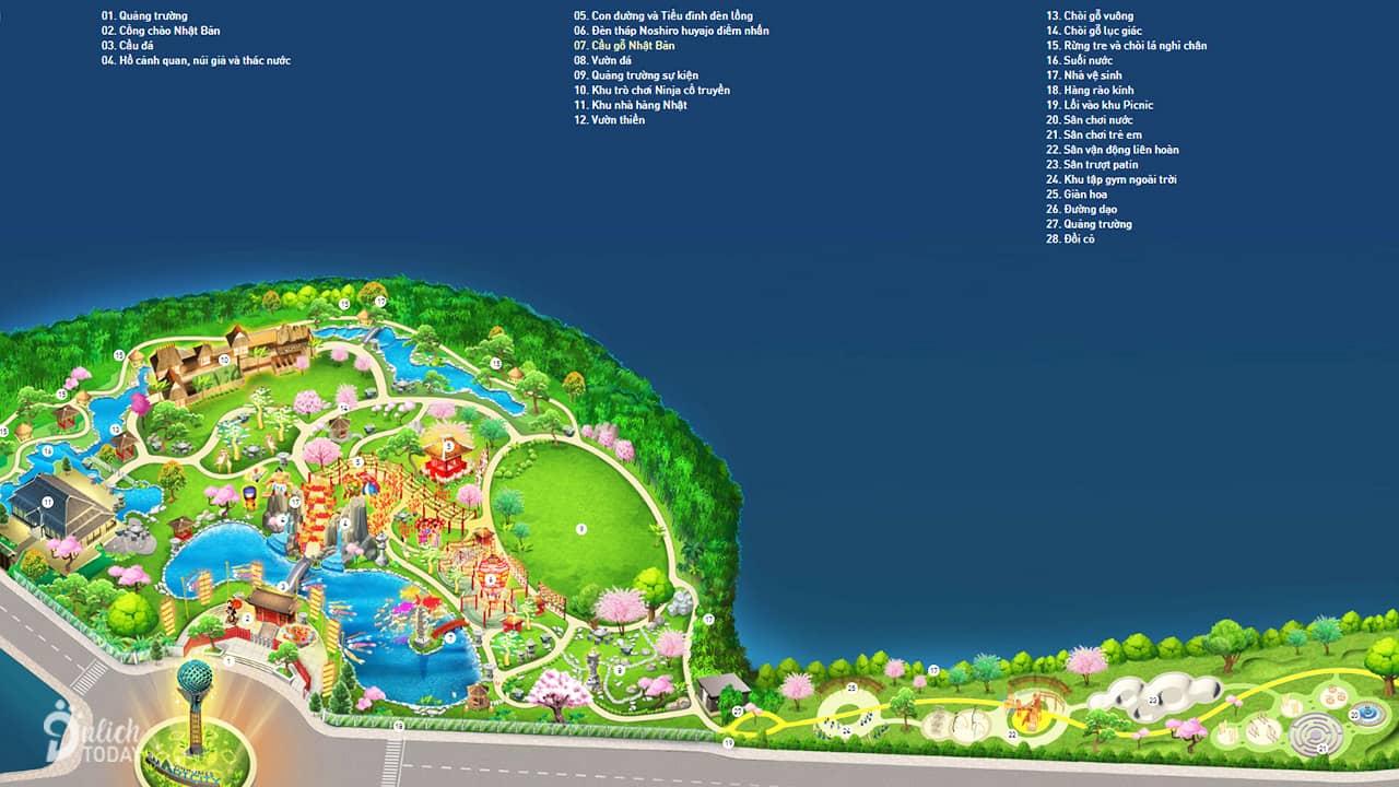 Danh sách các tiện ích của vườn Nhật Vinhomes Smart City