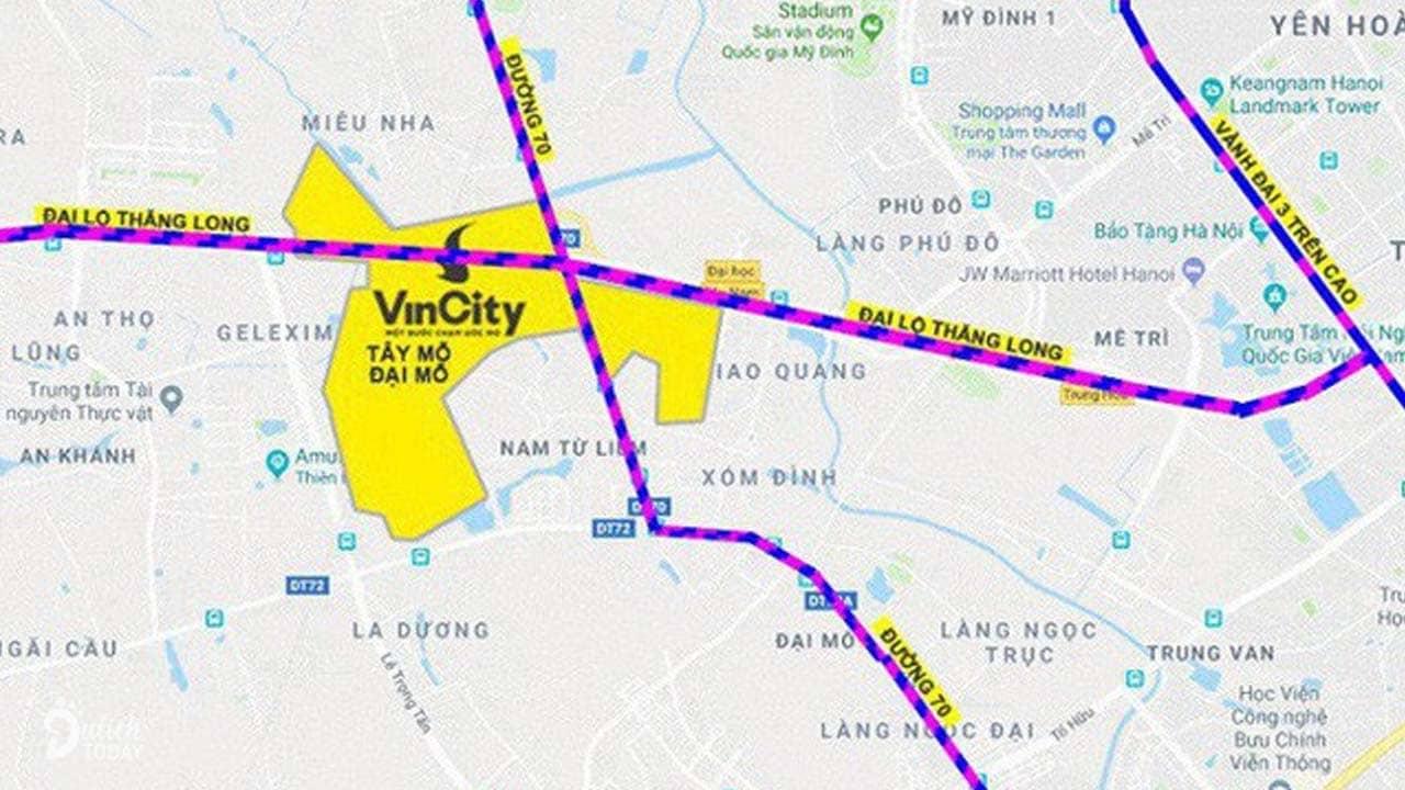 Vườn Nhật nằm trong khu đô thị thông minh Vinhomes Smart City phía Tây Hà Nội
