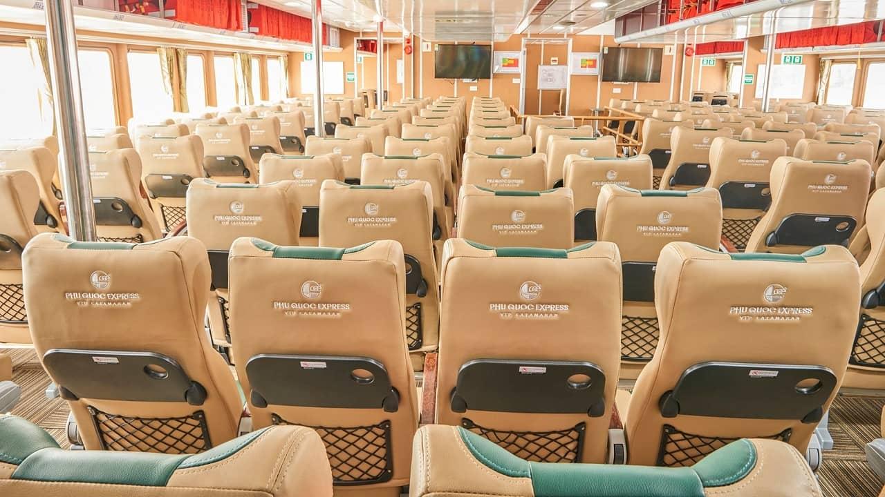 Nội thất tàu cao tốc Phú Quốc Express
