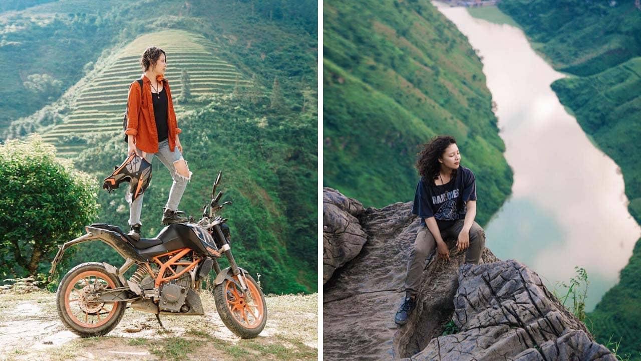 Nhị Đặng là travel influencer nổi bật với phong cách tự do, phóng khoáng
