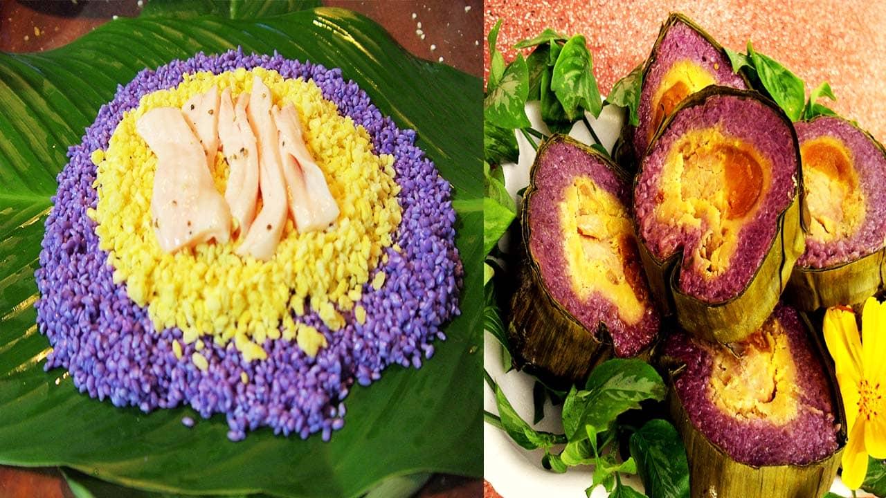 Đặc sản Tết truyền thống của người Sài thành:Bánh Tét lá cẩm