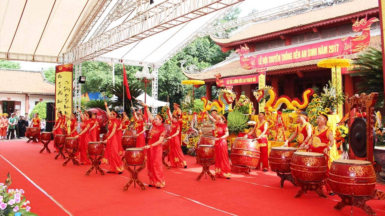 Lễ hội đền An Sinh độc đáo, trang trọng, linh thiêng
