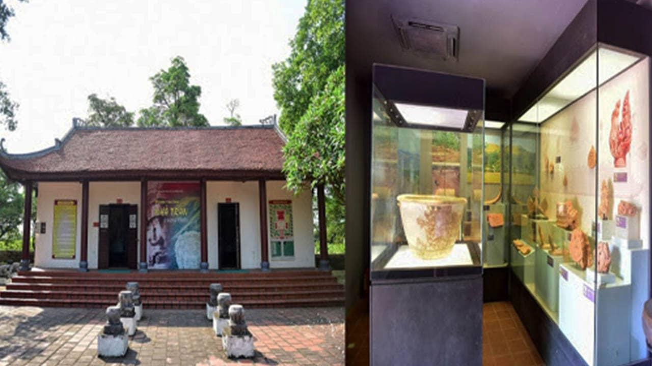 Khu trưng bày hiện vật từ các thời trước còn sót lại