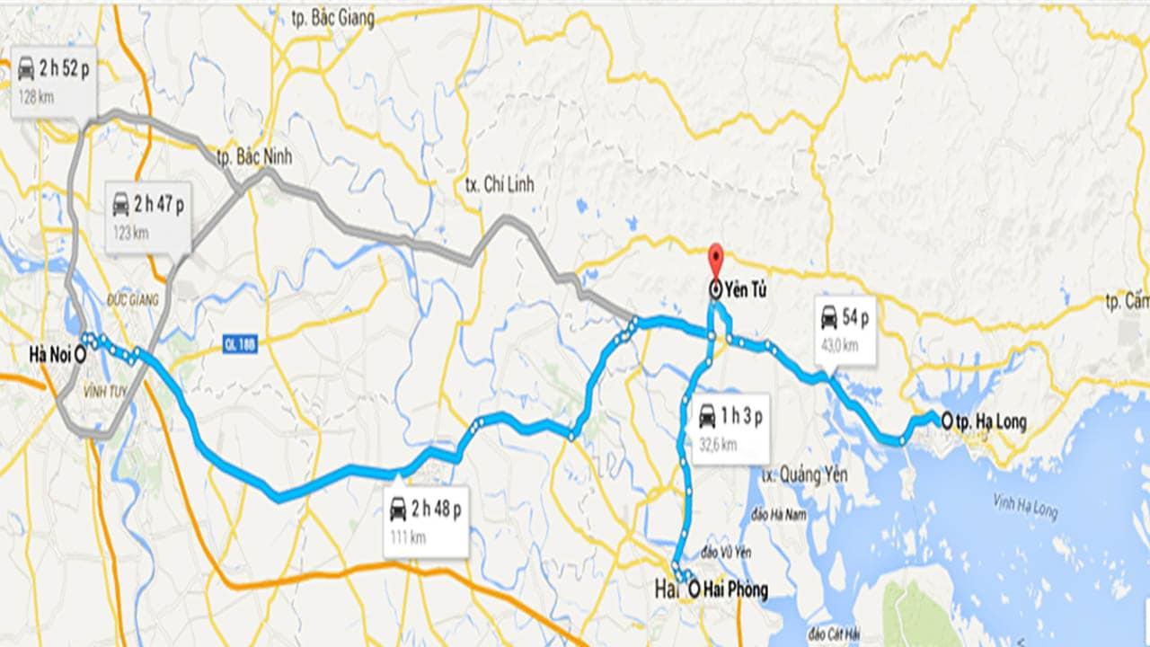Hướng dẫn cách di chuyển đến Yên Tử