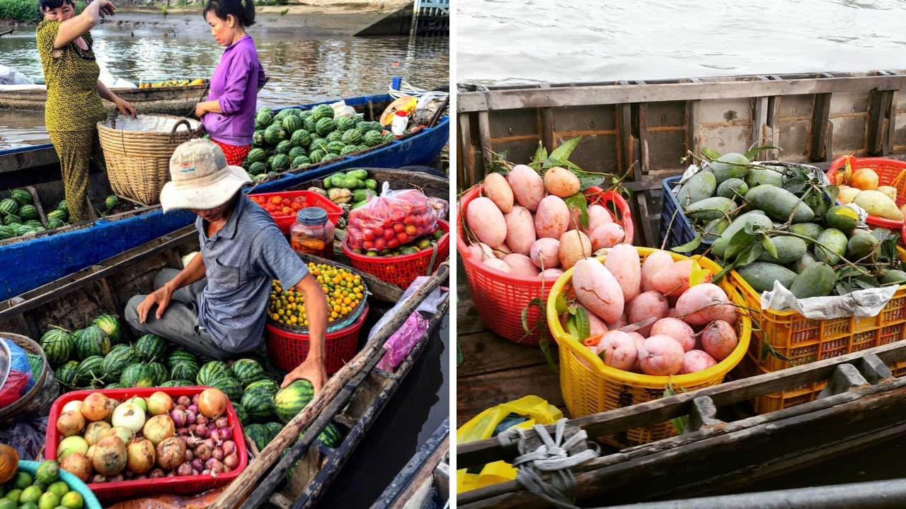 Hoa quả tươi ngon tại chợ nổi Cái Răng
