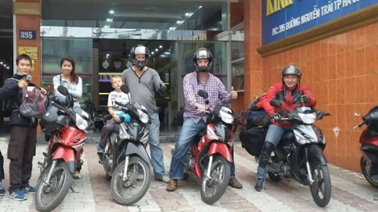 Thuê xe máy ở Hà Giang tại cơ sở Hùng Cường