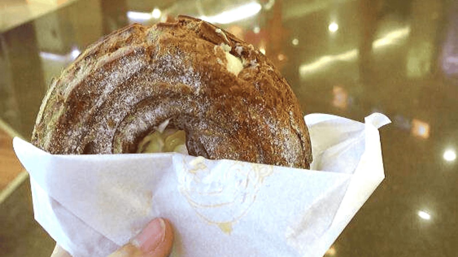 Bánh su kem hình vòng tròn kiểu châu Âu lạ mắt