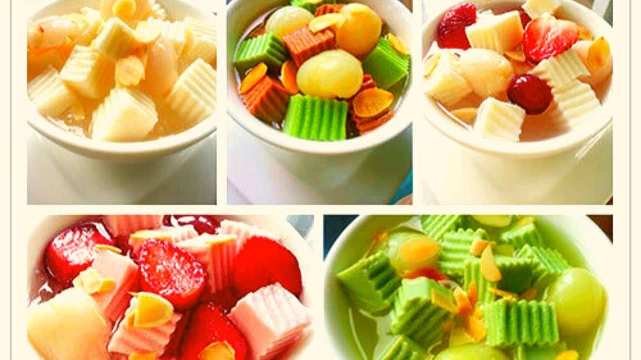 Ngoài hương vị truyền thống các bạn có thể thưởng thức nhiều hương vị mới lạ của chè khúc bạch