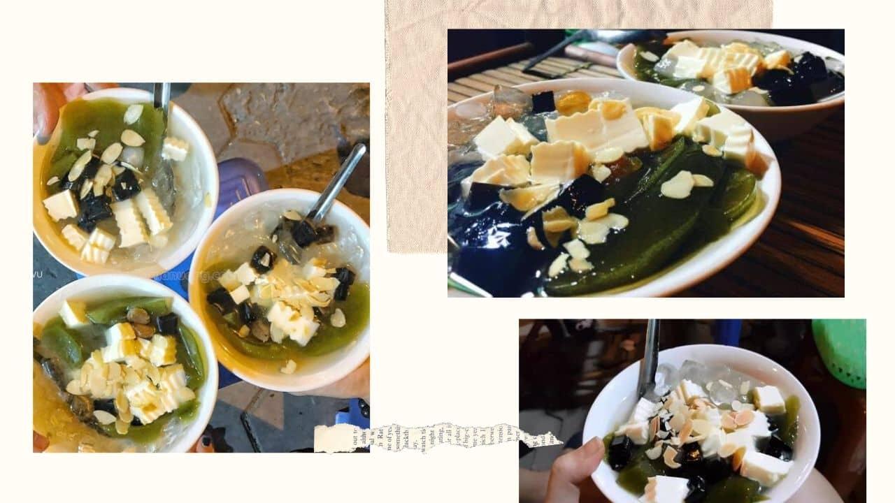 Món chè khúc bạch được phục vụ tại quán chè Gỗ Hà Đông
