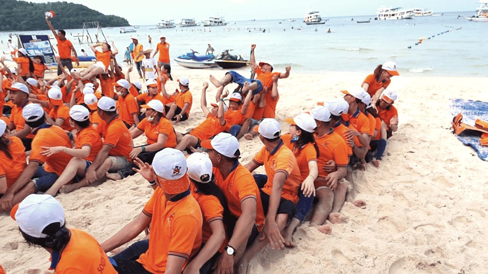 Bãi Sao là một trong những địa điểm team building Phú Quốc hấp dẫn nhất