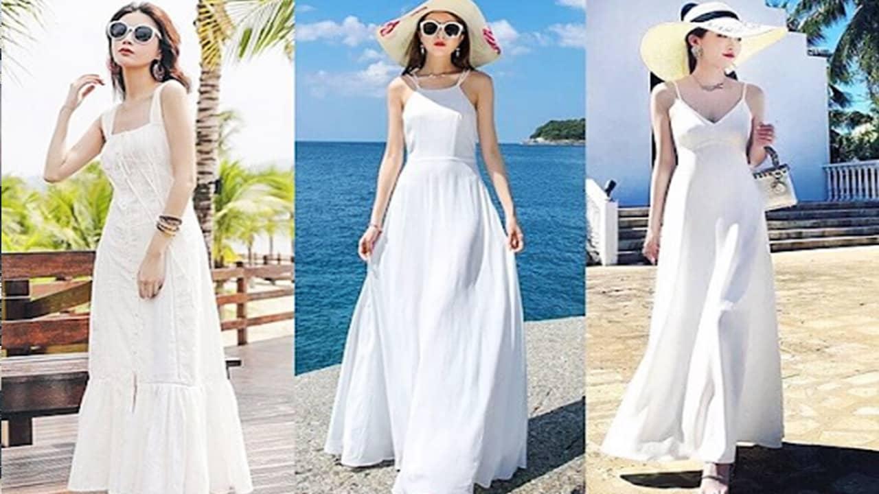 Váy maxi dài giúp các cô gái có thể chụp những tấm hình tuyệt đẹp