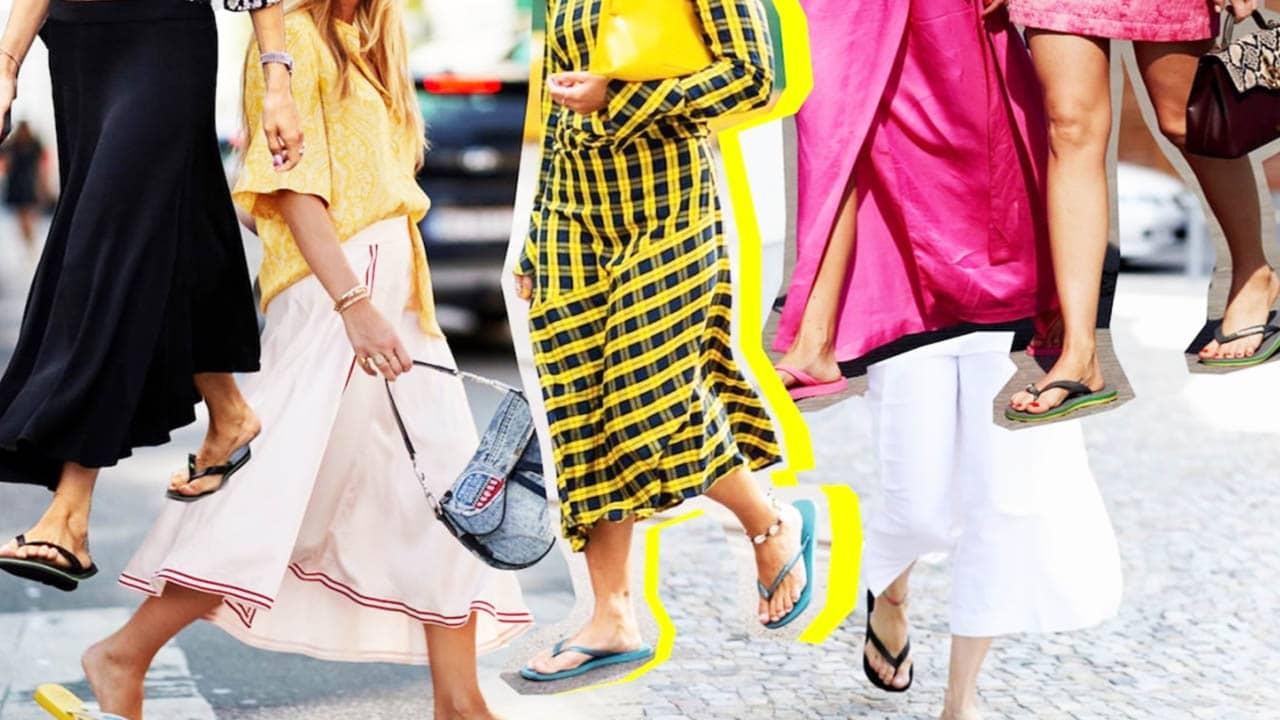 chọn một đôi dép xỏ ngón nữ đi biển flip-flop có kiểu dáng đơn giản và màu sắc nổi bật