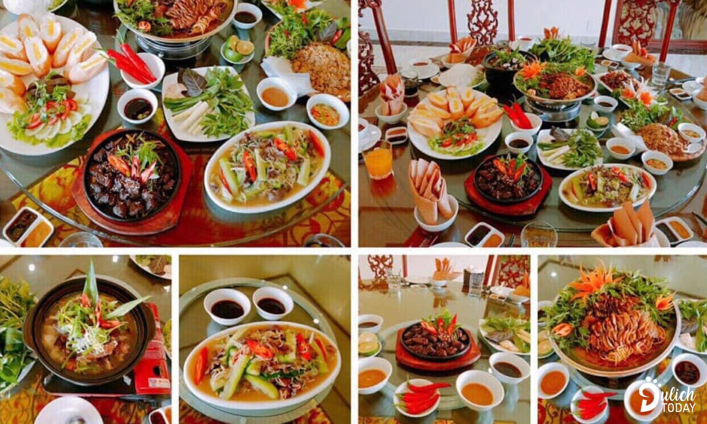 Thực đơn tại nhà hàng Hoa Sơn phong phú, đa dạng, đặc sắc