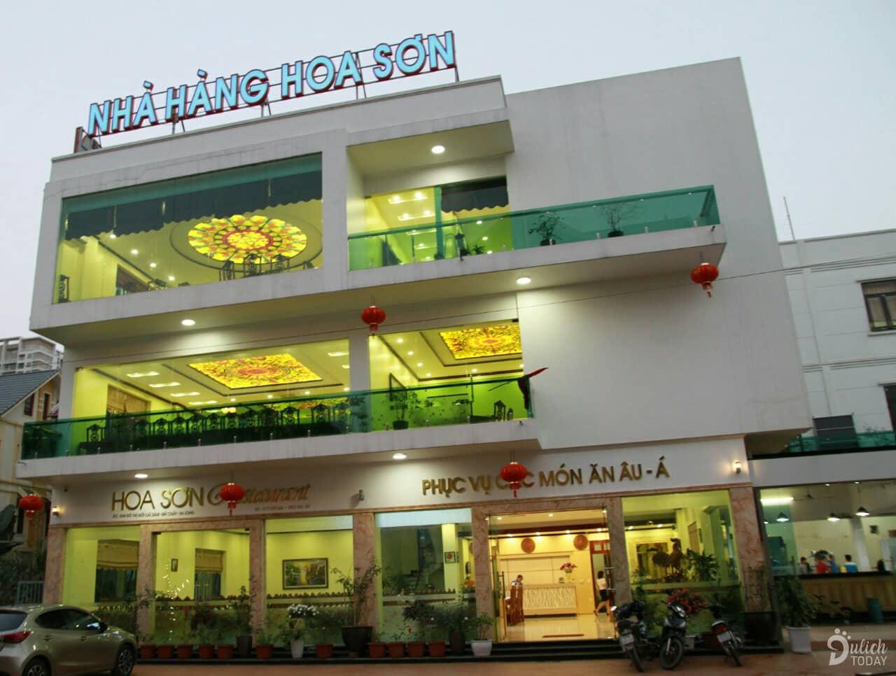 Nhà hàng Hoa Sơn với thiết kế 3 tầng sang trọng